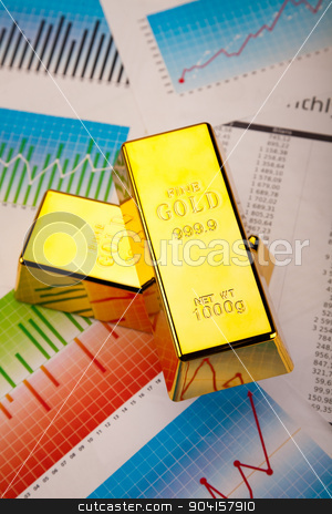 Stack of gold bar, ambient financial concept stock photo, Stack of gold bar, ambient financial concept by Sebastian Duda