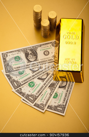 Golden Bar, ambient financial concept stock photo, Golden Bar, ambient financial concept by Sebastian Duda