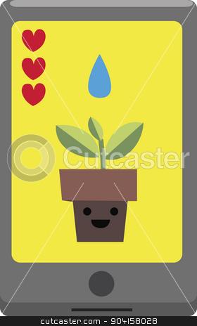 Vector illustration. Smartphone apps concept. stock photo, Vector illustration. Smartphone apps and social media concept.  by nicolas menijes