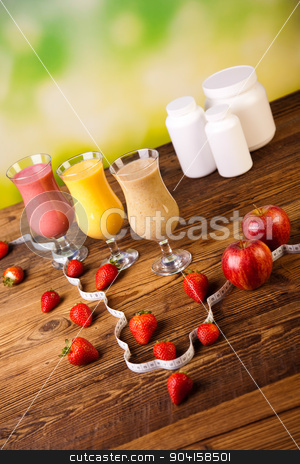 Sport Milk shakes, healthy and fresh stock photo, Sport Milk shakes, healthy and fresh by Sebastian Duda