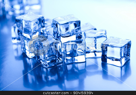 Ice cubes, cold and fresh concept stock photo, Ice cubes, cold and fresh concept by Sebastian Duda
