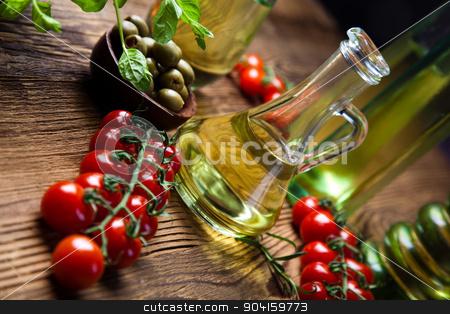 Olive oils in bottles, Mediterranean rural theme stock photo, Olive oils in bottles, Mediterranean rural theme by Sebastian Duda