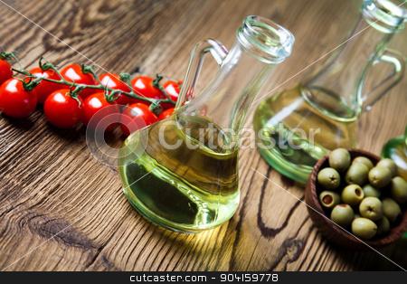 Olive oil bottle, Mediterranean rural theme stock photo, Olive oil bottle, Mediterranean rural theme by Sebastian Duda