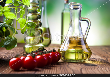 Olive oil bottle, Mediterranean rural theme stock photo, Olive oil bottle, Mediterranean rural theme by Sebastian Duda