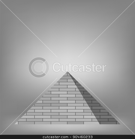 Pyramid stock vector clipart, Pyramid on Grey Background for Your Design by valeo5