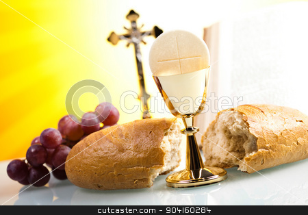 Holy communion, bright background, saturated concept stock photo, Holy communion, bright background, saturated concept by Sebastian Duda