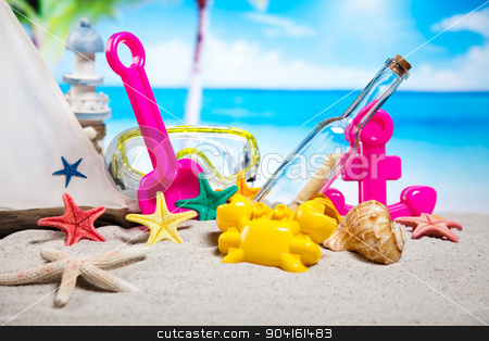Holiday, summer, beach Background, vivid colorful atmosphere stock photo, Holiday, summer, beach Background, vivid colorful atmosphere by Sebastian Duda