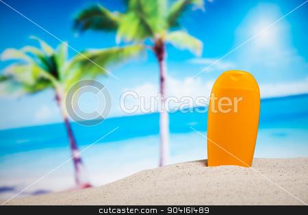Summer Beach Background, vivid colorful atmosphere stock photo, Summer Beach Background, vivid colorful atmosphere by Sebastian Duda