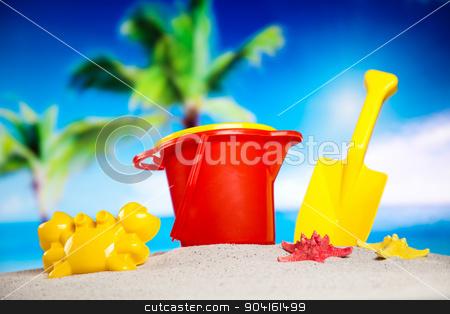 Beach background, vivid colorful atmosphere stock photo, Beach background, vivid colorful atmosphere by Sebastian Duda