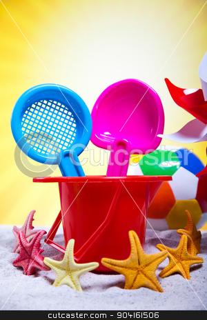 Toys for the beach, vivid colorful atmosphere stock photo, Toys for the beach, vivid colorful atmosphere by Sebastian Duda