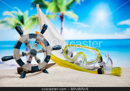 Beach toys, vivid colorful atmosphere stock photo, Beach toys, vivid colorful atmosphere by Sebastian Duda