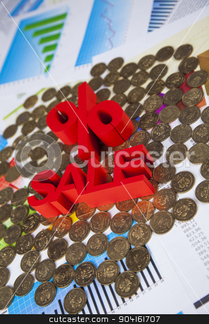 Finance concept, Percent, natural colorful tone stock photo, Finance concept, Percent, natural colorful tone by Sebastian Duda