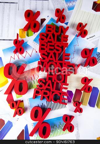 Percentage, Concept of discount colorful tone  stock photo, Percentage, Concept of discount colorful tone by Sebastian Duda