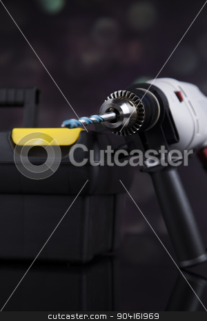 Still life with constructor tools stock photo, Still life with constructor tools by Sebastian Duda