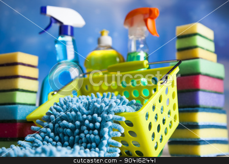 Group of assorted cleaning, home work colorful theme  stock photo, Group of assorted cleaning, home work colorful theme by Sebastian Duda
