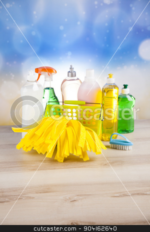 Cleaning products, home work colorful theme stock photo, Cleaning products, home work colorful theme by Sebastian Duda