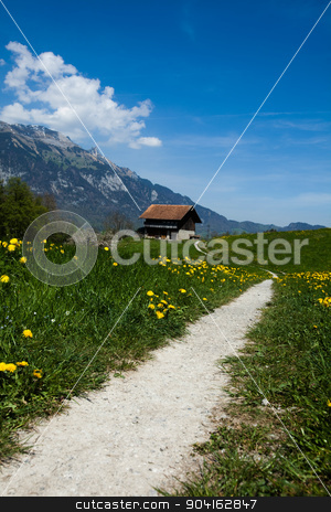 Spring landscape in mountains, Alps stock photo, Spring landscape in mountains, Alps by Sebastian Duda