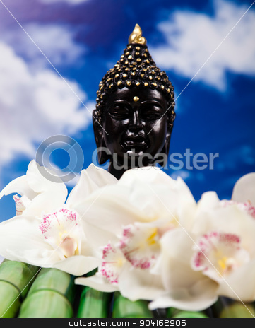 Buddha background, vivid colors, natural tone stock photo, Buddha background, vivid colors, natural tone by Sebastian Duda