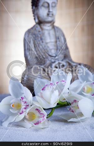 Buddha background, vivid colors, natural tone stock photo, Buddha background, vivid colors, natural tone by Sebastian Duda
