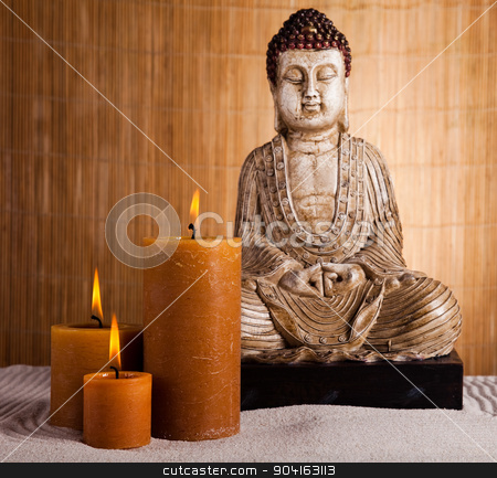 Portrait of a buddha statue stock photo, Portrait of a buddha statue by Sebastian Duda