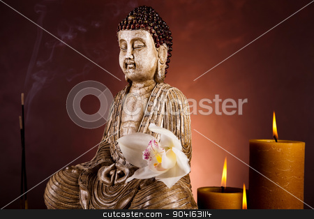 Portrait of a buddha statue stock photo, Portrait of a buddha statue by Sebastian Duda