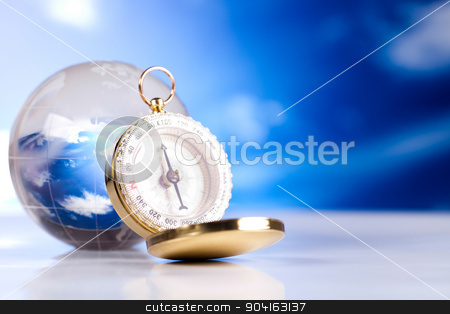 Compass, modern theme of journey stock photo, Compass, modern theme of journey by Sebastian Duda