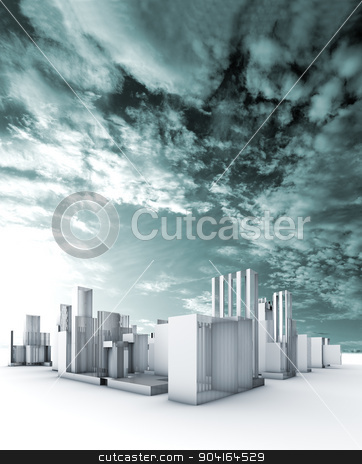 city blueprint concept. stock photo, Sustainable city blueprint concept.Construction and engineering by carloscastilla