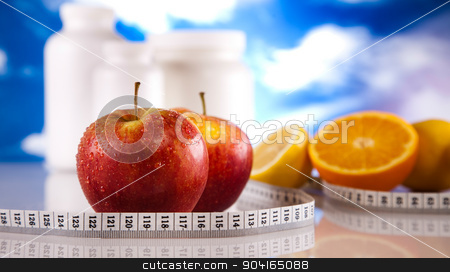 Supplements background, bright colorful tone concept stock photo, Supplements background, bright colorful tone concept by Sebastian Duda