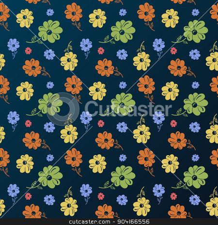 Vector flower pattern. Vintage seamless background stock vector clipart, Vector flower pattern. Vintage seamless background wallpaper  by Extezy