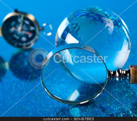 Theme of modern worldwide, glass globe stock photo, Theme of modern worldwide, glass globe by Sebastian Duda