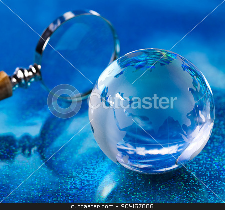 Modern concept of world, glass globe stock photo, Modern concept of world, glass globe by Sebastian Duda