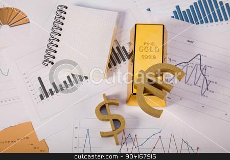 Monthly report, ambient financial concept stock photo, Monthly report, ambient financial concept by Sebastian Duda