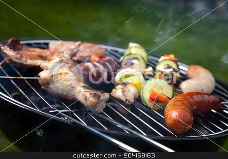 Steak, Grilling at summer weekend, bright colorful vivid theme stock photo, Steak, Grilling at summer weekend, bright colorful vivid theme by Sebastian Duda