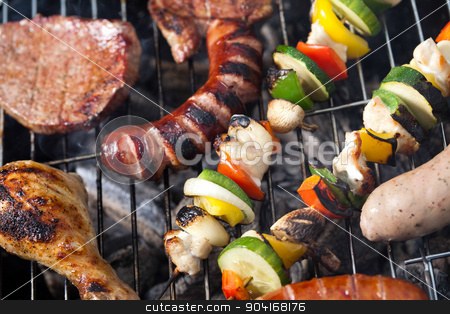 Fire, Hot grilling, bright colorful vivid theme stock photo, Fire, Hot grilling, bright colorful vivid theme by Sebastian Duda
