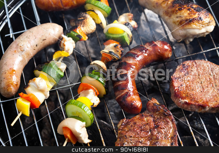Fire, Hot grilling, bright colorful vivid theme stock photo, Fire, Hot grilling, bright colorful vivid theme by Sebastian Duda