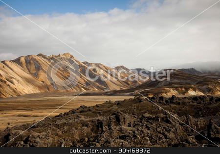 Mountain landscape , Landmannalaugar,Iceland, bright colorful vi stock photo, Mountain landscape , Landmannalaugar,Iceland, bright colorful vivid theme by Sebastian Duda