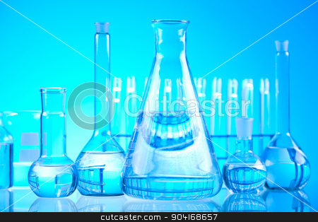 Glass in laboratory, bright modern chemical concept stock photo, Glass in laboratory, bright modern chemical concept by Sebastian Duda