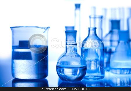 Laboratory glassware, bright modern chemical concept stock photo, Laboratory glassware, bright modern chemical concept by Sebastian Duda