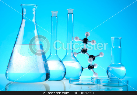 Medical laboratory, bright modern chemical concept stock photo, Medical laboratory, bright modern chemical concept by Sebastian Duda