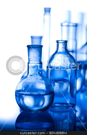 Laboratory glassware, bright modern chemical concept stock photo, Laboratory glassware, bright modern chemical concept by Sebastian Duda