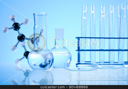 Laboratory equipment, bright modern chemical concept stock photo, Laboratory equipment, bright modern chemical concept by Sebastian Duda