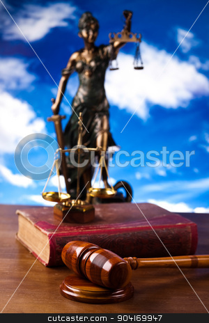 Statue of lady justice, Law concept stock photo, Statue of lady justice, Law concept by Sebastian Duda