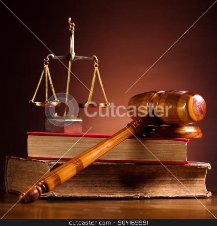 Justice Scale and Gavel, ambient light vivid theme stock photo, Justice Scale and Gavel, ambient light vivid theme by Sebastian Duda