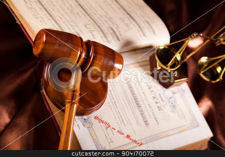 Legal gavel on a law book stock photo, Legal gavel on a law book by Sebastian Duda