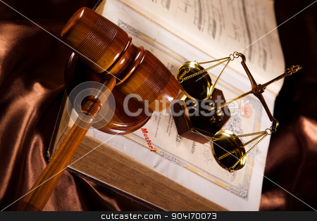 Legal gavel on a law book stock photo, Legal gavel on a law book by Sebastian Duda