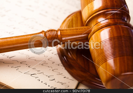 Wooden gavel barrister, justice concept, legal system stock photo, Wooden gavel barrister, justice concept, legal system by Sebastian Duda