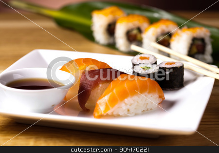 Traditional japanese food, Sushi stock photo, Traditional japanese food, Sushi by Sebastian Duda