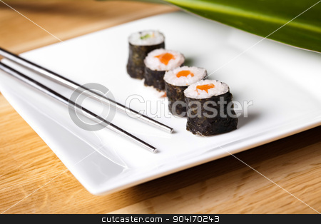 Collection of sushi, oriental cuisine colorful theme stock photo, Collection of sushi, oriental cuisine colorful theme by Sebastian Duda