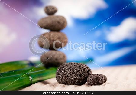 Zen stone, magical ambient atmosphere theme stock photo, Zen stone, magical ambient atmosphere theme by Sebastian Duda