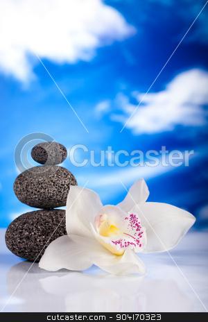 Balanced zen stones, magical ambient atmosphere theme stock photo, Balanced zen stones, magical ambient atmosphere theme by Sebastian Duda